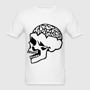 Skull Brain  - Men's T-Shirt