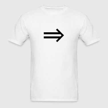 implies (maths symbol) - Men's T-Shirt