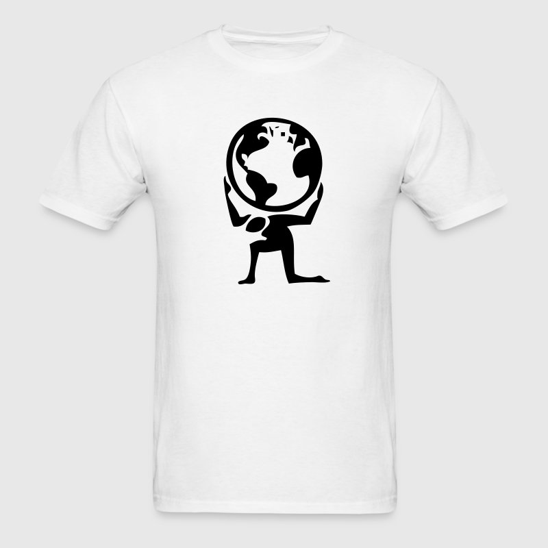 Atlas Greek Myth Earth 1c - Men's T-Shirt