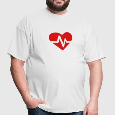 Heartbeat Pulse (Electric Loveheart) - Men's T-Shirt