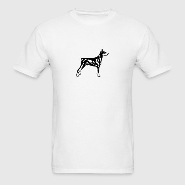 dog breed doberman - Men's T-Shirt