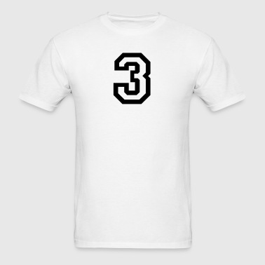 number - 3 - three - Men's T-Shirt