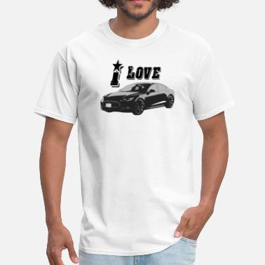 Model Tesla Model S - Men's T-Shirt