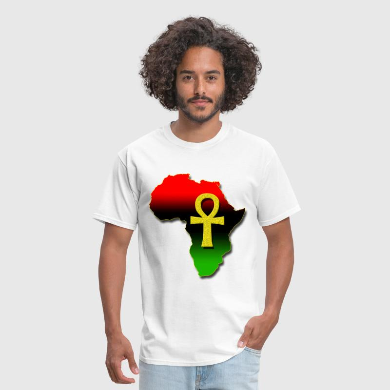 Africa and ANKH.png - Men's T-Shirt