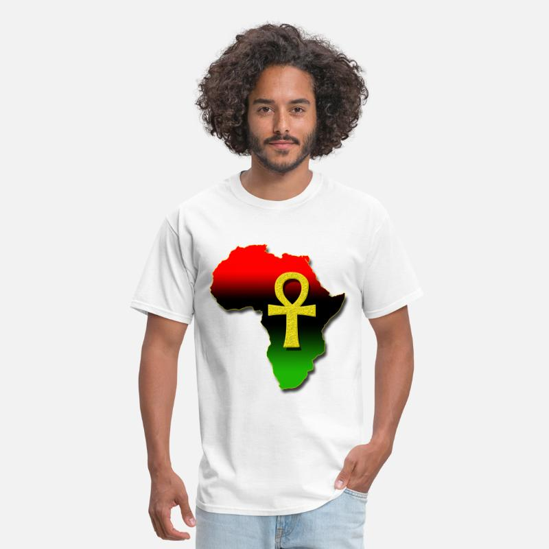 Africa T-Shirts - Africa and ANKH.png - Men's T-Shirt white