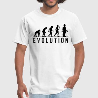 Evolution Of Man Firefighter Evolution - Men's T-Shirt