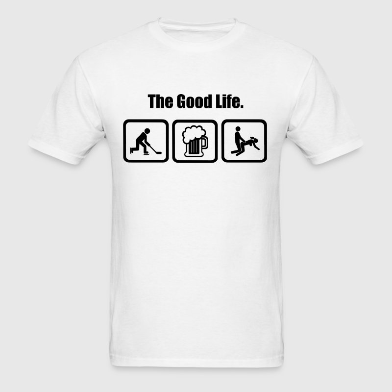 Icehockey The Good life - Men's T-Shirt