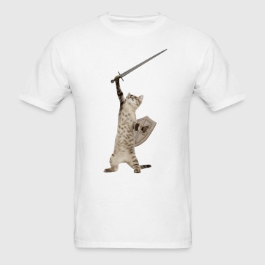 Heroic Warrior Knight Cat - Men's T-Shirt