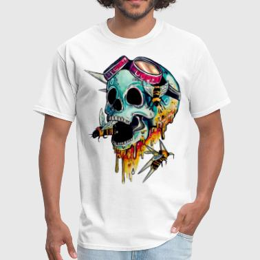 Honey Bee skull with honey - Men's T-Shirt