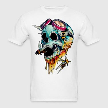 skull with honey - Men's T-Shirt