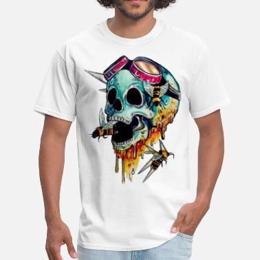 Skull skull with honey - Men's T-Shirt