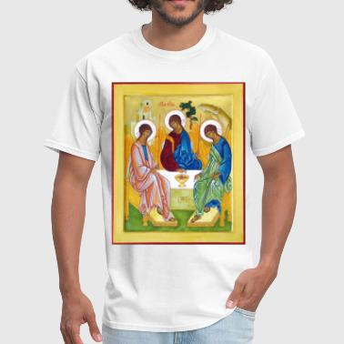 Eastern Orthodox icon__peter_james_and_john_trinity - Men's T-Shirt