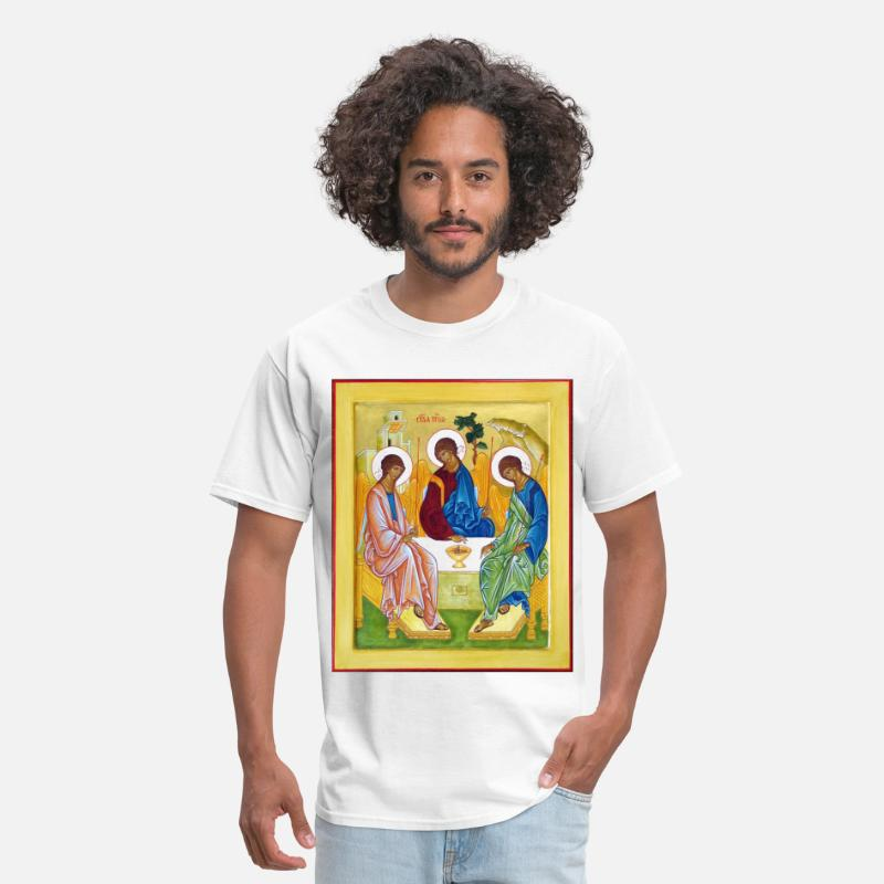 Orthodox T-Shirts - icon__peter_james_and_john_trinity - Men's T-Shirt white