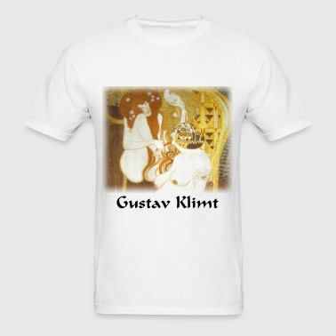 gustav_klimt__debauchery_unchastity_and_ - Men's T-Shirt