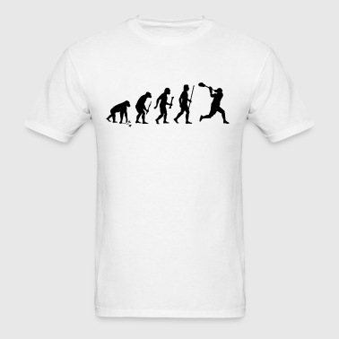 Evolution of Lacrosse - Men's T-Shirt