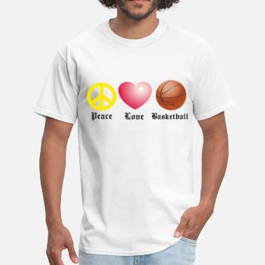 Peace Love And Basketball Peace, Love, Basketball - Men's T-Shirt