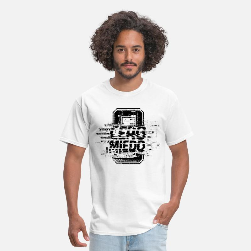 Pentagon T-Shirts - CERO MIEDO [WHITE/BLACK] - Men's T-Shirt white