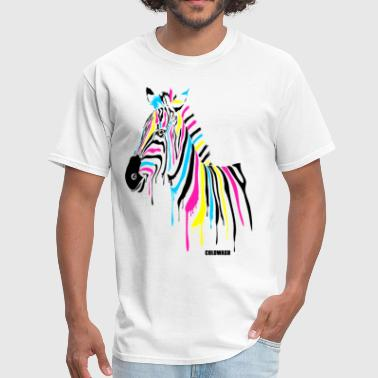 RAINBOW ZEBRA - Men's T-Shirt