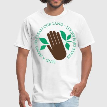Lend a Hand to Clean Our Land - Men's T-Shirt