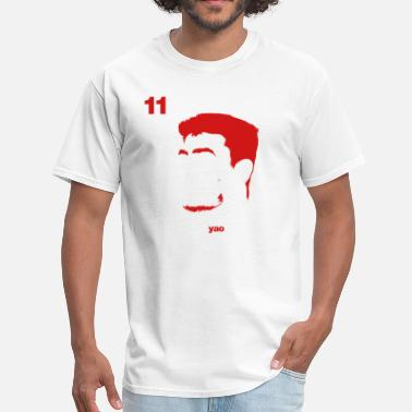 Houston Rockets Yao Portrait with Name & Number - Men's T-Shirt