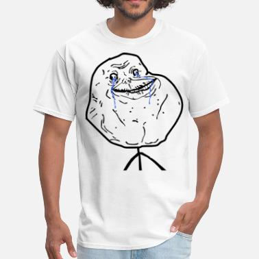 Forever Alone Meme Face Forever Alone - Men's T-Shirt
