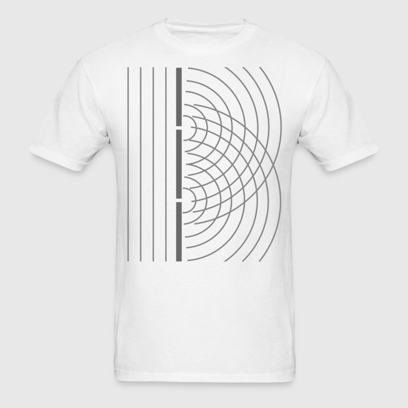 Double Slit Light Wave Particle Science Experiment - Men's T-Shirt
