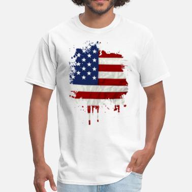729522a0e34 United States Flag Paint Splatter - Men's ...