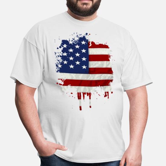 fc3e7cba0de9f United States Flag Paint Splatter Men's T-Shirt | Spreadshirt
