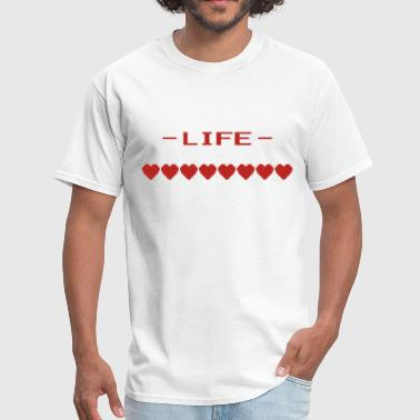 Video Game Heart Life Meter - Men's T-Shirt