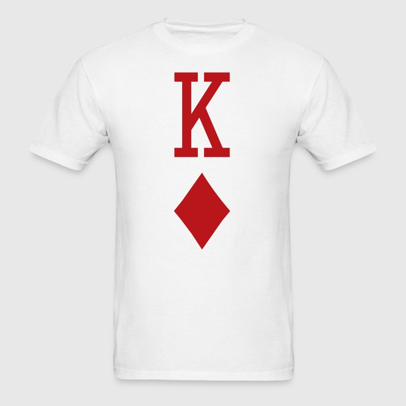 King of Diamonds Red Playing Card - Men's T-Shirt