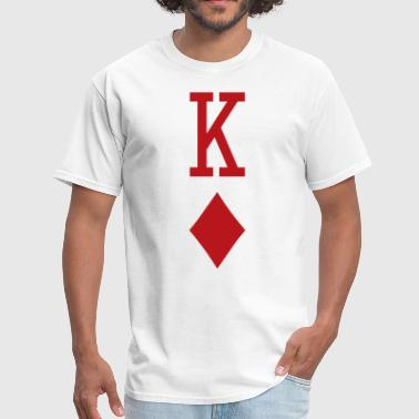 Playing Cards King of Diamonds Red Playing Card - Men's T-Shirt