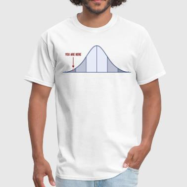 IQ Bell Curve You Are Here - Men's T-Shirt