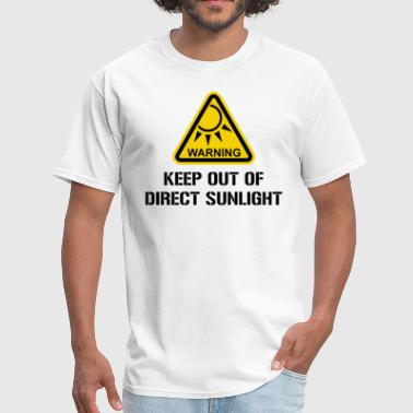 WARNING - Keep Out of Direct Sunlight - Men's T-Shirt
