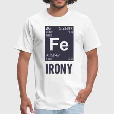 Shop periodic table t shirts online spreadshirt periodic table by tshirthumor ironic chemical element fe irony men39s urtaz Choice Image