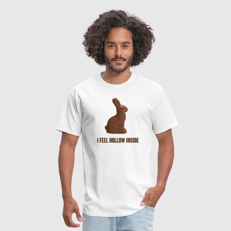 I Feel Hollow Inside Chocolate Easter Bunny - Men's T-Shirt