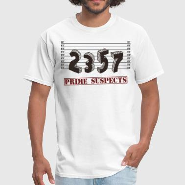 Prime Numbers The Prime Number Suspects - Men's T-Shirt