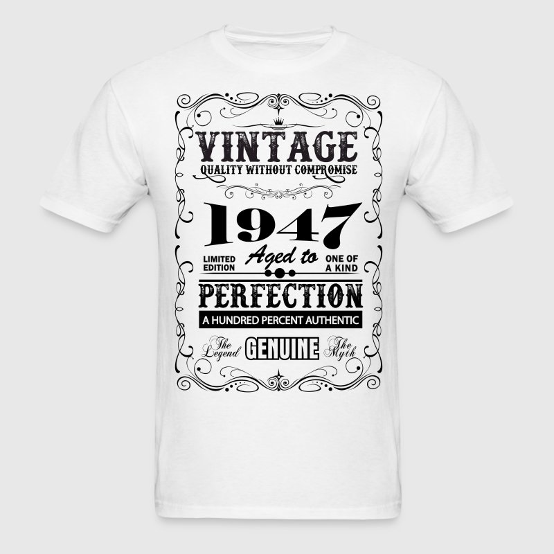 Premium Vintage 1947 Aged To Perfection - Men's T-Shirt