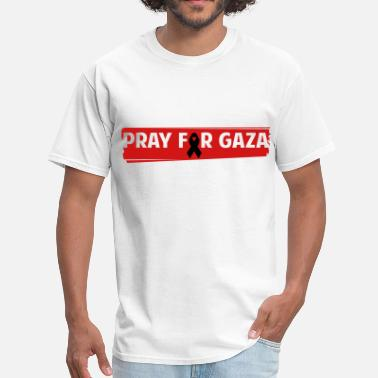 Pray For Palestine PRAY FOR GAZA RIBBON - Men's T-Shirt
