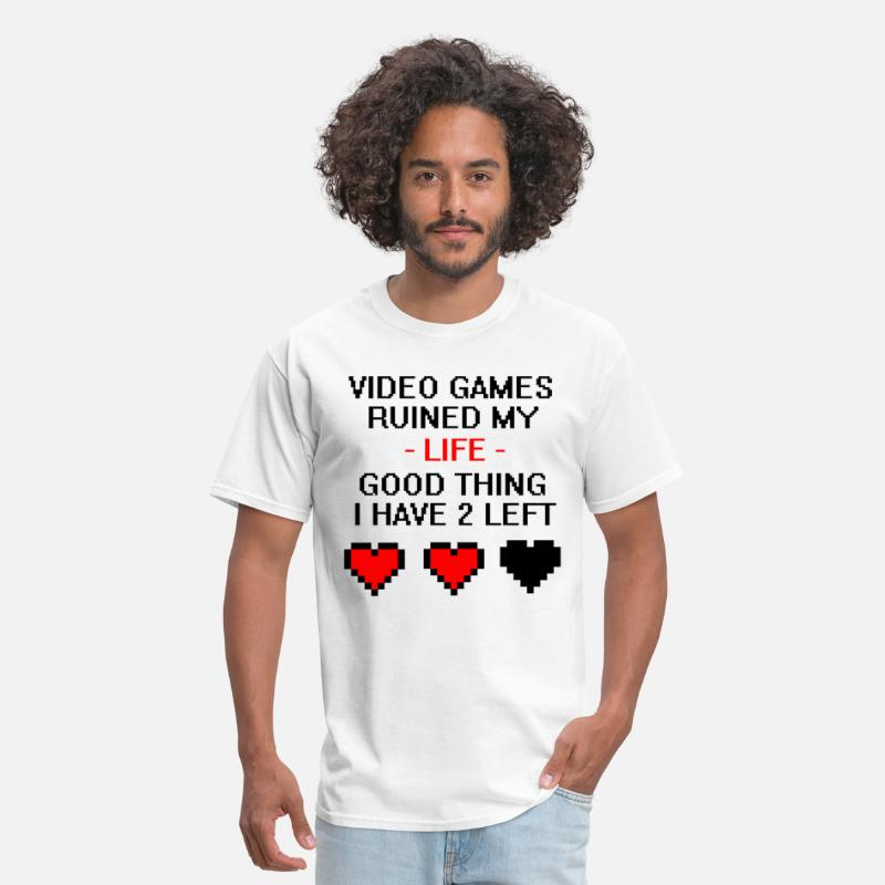 Gaming T-Shirts - Video Games Ruined My Life - Men's T-Shirt white