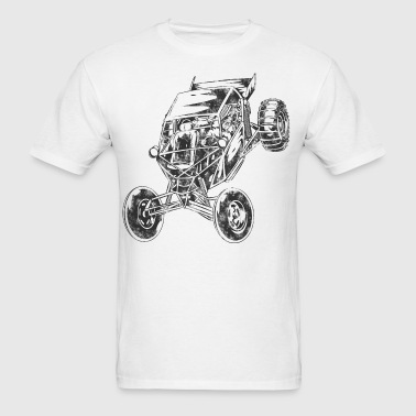 Sand-Riding Paddle-Tire Dune Buggy - Men's T-Shirt