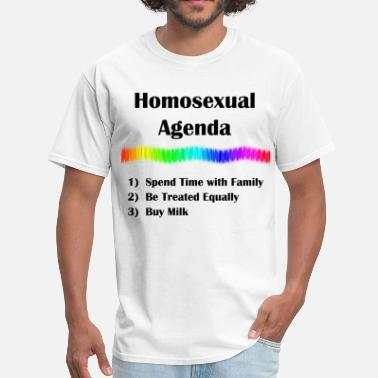 Gay Sayings Homosexual Agenda - Men's T-Shirt