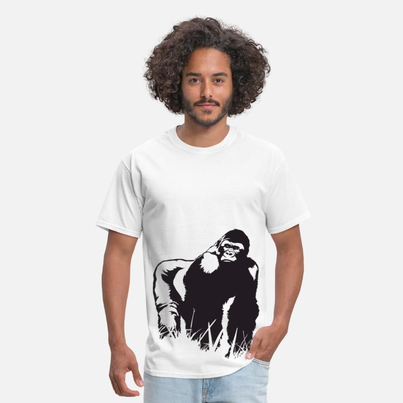 Collections T-Shirts - King Gorilla HD Design - Men's T-Shirt white