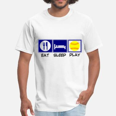Eat Sleep Softball Eat, Sleep, Softball - Men's T-Shirt