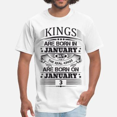 Mom 3 Real Kings Are Born On January 3 - Men's T-Shirt