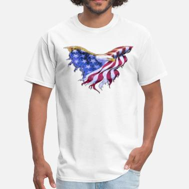 American Eagle American Flag Eagle  Transparent Gif - Men's T-Shirt