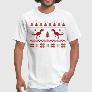 Ugly Christmas Ugly T-Rex Dinosaur Christmas Sweater - Men's T-Shirt