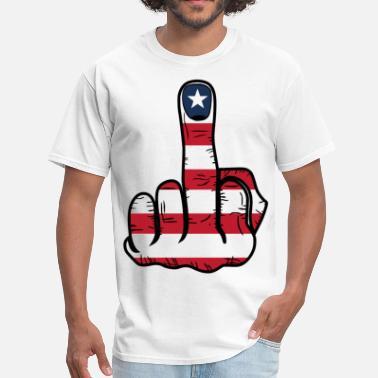 a4c2c2ded Finger Middle Finger USA Flag - Men's T-Shirt