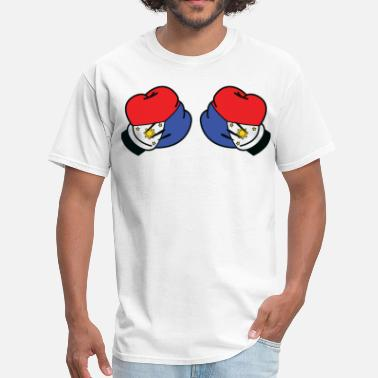 Mickey Mouse Boxing MP Filipino Flag Boxing Glove by AiReal Apparel - Men's T-Shirt