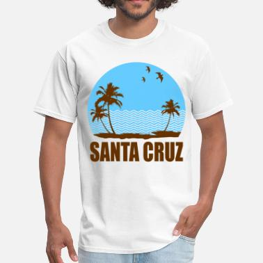 Santa Cruz Beach santa345 - Men's T-Shirt