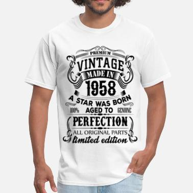 Born In 1958 Vintage 1958 - Men's T-Shirt